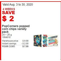 PopCorners Popped Corn Chips Variety Pack