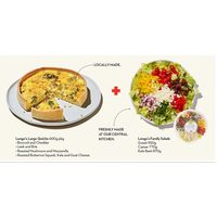 Longo's Large Quiche And Longo's Large Family Salad