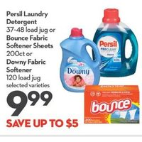 Persil Laundry Detergent Or Bounce Fabric Softener Sheets Or Downy Fabric Softener