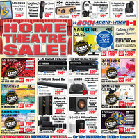 - Home Theatre Sale!	 Flyer