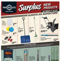 Princess Auto - Surplus Flyer