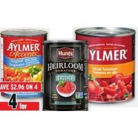 Aylmer, Hunt's Heirloom or Rotel Tomatoes