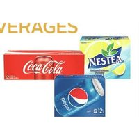 Coca-Cola or Pepsi Regular or Diet or Nestea or Lipton Iced Tea, Fruitopia, Minute Maid or Dole Juices or Drinks