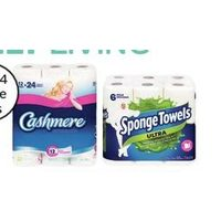 Cashmere Bathroom Tissue, Scotties Facial Tissue or Spongetowels Choose-A-Size, Ultra Paper Towels