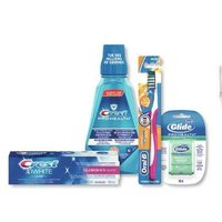 Crest Pro-Health, 3D White, Scope or Complete Toothpaste, Mouthwash or Oral-B Manual Toothbrushes, Dental Picks or Floss
