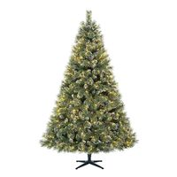 7.5' Sparkling Pre-Lit Quick Set Artificial Christmas Tree