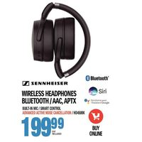 Sennheiser Wireless Headphones Bluetooth / AAC, APTX