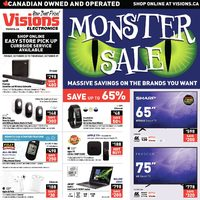 Visions Electronics - Monster Sale Flyer