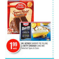 Dr.Oetker Shrriff Pie Filling Or Betty Crocker Cake Mix