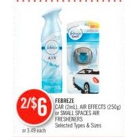Febreze Car, Air Effects Or Small Spaces Air Freshners