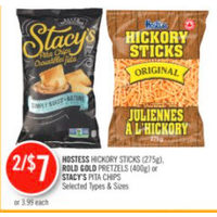 Hostess Hickory Sticks, Rold Gold Pretzels Or Stacy's Pita Chips
