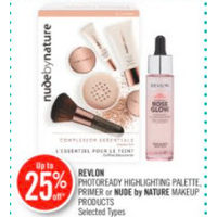 Revlon Photoready Highlighting Palette, Primer Or Nude By Nature Makeup Products