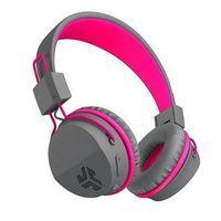Jlas Audio JBuddies Studio Kids Wireless Headphones, Bluetooth - Grey/Pink