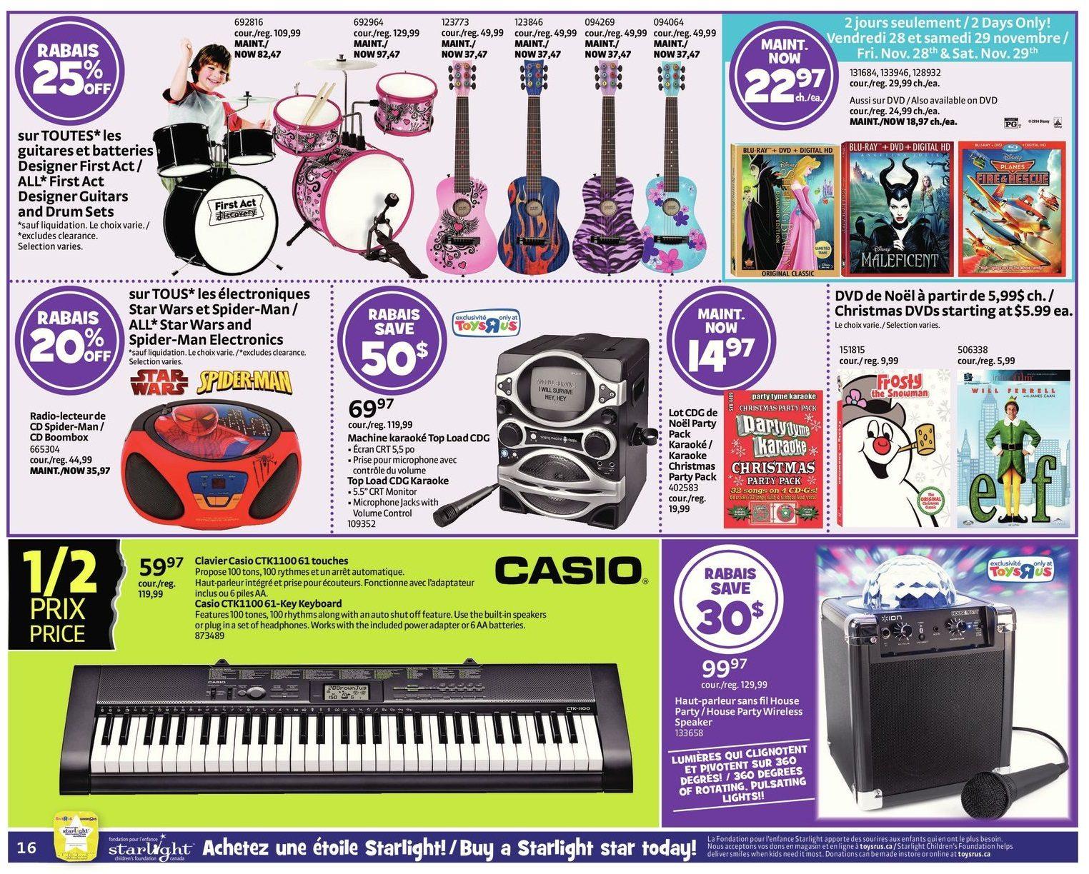 Toys R Us Weekly Flyer 1 2 Price Event Starts Black Friday Nov Ps4 Birthdays The Beginning Reg 28 Dec 3