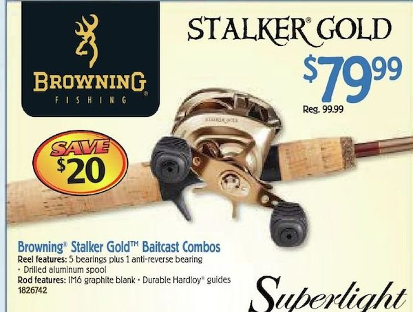 Bass Pro Shops: Browning Fishing Stalker Gold Rod and Reel