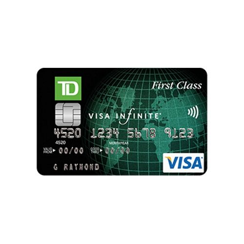 Td Visa Infinite >> Td First Class Travel Visa Infinite Card Get 20 000 Td Points On