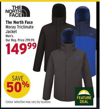 The north face moray triclimate mens jacket