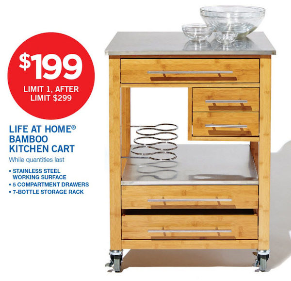 Superieur Real Canadian Super Life At Home Bamboo Kitchen Cart
