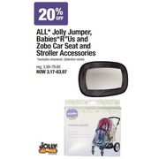 All Jolly Jumper, Babies R Us and Zobo Car Seat and Stroller Accessories - From $3.17 (20% off)
