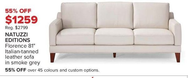 Florence Leather Sofa Florence Grey Leather Sofa And Loveseat Set On Free Thesofa