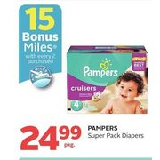 Pampers Super Pack Diapers  - $24.99/pkg