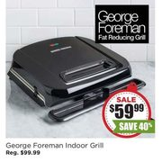 George Foreman Grilleration Indoor Grill with Ceramic Plates (Black) - $59.99 (40% off)