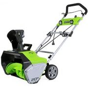 Greenworks13a Electric Snowthrower, 20-in - $249.99 ($50.00 Off)