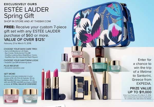 55809e7c086 The Bay: Estee Lauder Spring Gift with Purchase of $60.00 - RedFlagDeals.com