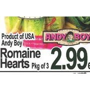 Andy Boy Romaine Hearts  - $2.99