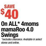 All 4moms mamaRoo 4.0 Swings - $40.00 off