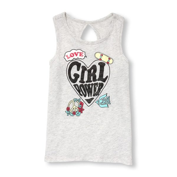 756be540988fa The Childrens Place Girls Matchables Sleeveless Cutout Back Graphic Tank Top  -  5.98 ( 8.97 Off) Girls Matchables Sleeveless Cutout Back Graphic Tank Top