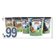 Ben & Jerry's Premium Ice Cream - $4.99