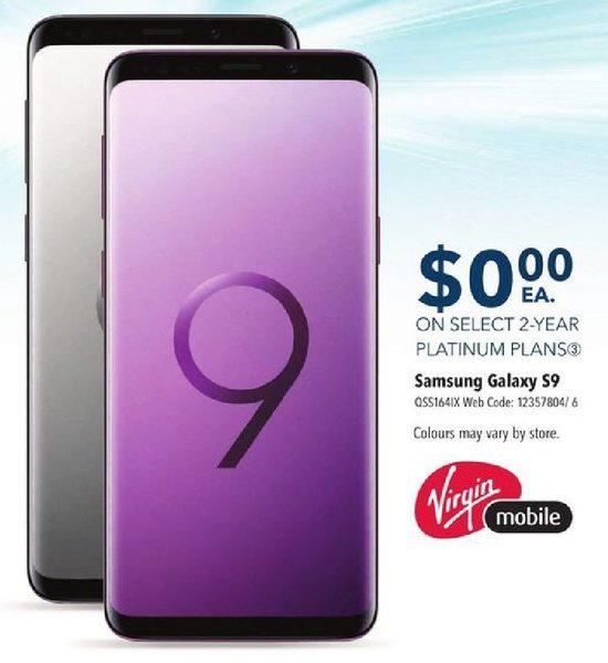 Best Buy: Virgin Mobile Samsung Galaxy S9 - $0 00 w/ Select 2yr