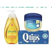 Johnson's Baby Toiletries, Q-Tips Cotton Swabs Or Vaseline Petroleum Jelly  - $4.99