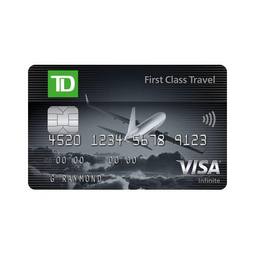 Td Visa Cards >> Td First Class Travel Visa Infinite Card Welcome Bonus