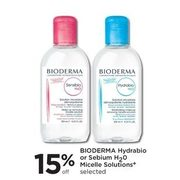 Bioderma Hydrabio Or Sebium H2O Micelle Solutions  - 15% off