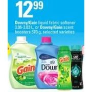 Downy/Gain Liquid Fabric Softener Or Downy/Gain Scent Boosters - $12.99