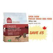 Open Farm Freeze Dried Dog Food - $5.00 off
