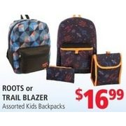 Roots or Trail Blazer Kids Backpacks - $16.99