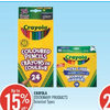 Crayola Stationary Products - Up to 15% off