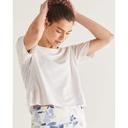 Hyba Cropped Tee With Back Ruffles - $9.97 ($29.93 Off)