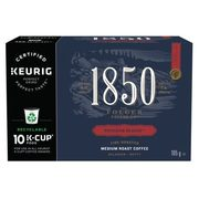 1850 Ground Or Whole Bean Coffee Or K-Cup Coffee Pods  - $9.97