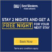 Best Western: Stay 2 Nights and Get 1 Free Night on Your Next Trip