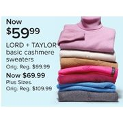 Lord + Taylor Basic Cashmere Sweaters - $59.99