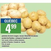 Red, Russet, White Or Yellow Potatoes - $4.99