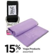 Yoga Products - 15% off