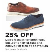 Rockport, Collection By Clarks And Commonwealth By Bostonian Men's Footwear  - 25% off