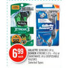 Gillette Sensor3, Schick Xtreme3 Or Skintimate Disposable Razors - $6.99