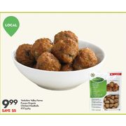 Yorkshire Valley Farms Organic Chicken Meatballs - $9.99 ($5.00 off)