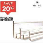 Metrie Pre-Painted MDF Mouldings  - 20% off